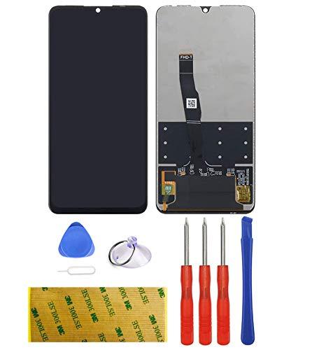 LTZGO Universell für Huawei P30 LITE Ersatz Display LCD Schwarz Touchscreen Digitizer Bildschirm Glas (ohne Rahmen) Ersatzteile Öffnungs Werkzeuge vollständigem Reparatur Set Tool Kit Kleber