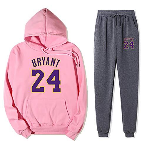 TIEON Jersey de baloncesto para hombre y mujer Lakers Nº 24 + pantalón de chándal traje de baloncesto M 19