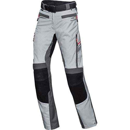 FLM Motorradhose Touren Damen Leder-Textilhose 4.0 grau/schwarz XL, Tourer, Ganzjährig