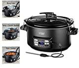 Russell Hobbs Sous Vide - Slow Cooker, 350 W, Pentola in Ceramica, 6 Porzioni, Nero 25630-56