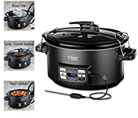 Russell Hobbs Sous Vide Slow Cooker 25630-56, 350 W, 6.5 Litri, Pentola in Ceramica, Nero