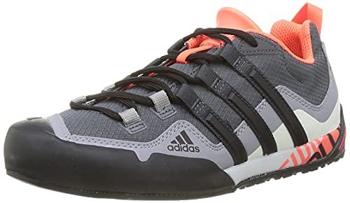 adidas Terrex Swift Solo, Zapatillas de Senderismo Unisex Adulto, GRISEI/NEGBÁS/Rojsol, 44 EU