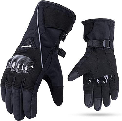 Motorrad Handschuhe Winter Touchscreen Handschuhe Wasserdicht Winddicht Warm Handschuhe Schwarz M