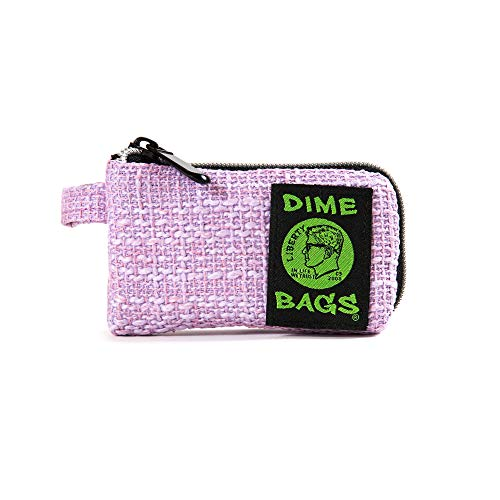 Dime Bags Padded Pouch with Soft Padded Interior   Protective Hemp Pouch for Glass with Interior Smell Proof Pocket (Purple, 5-Inch)