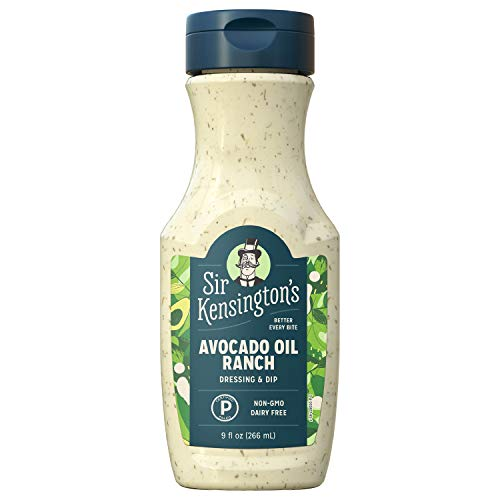 Sir Kensington's Ranch Dressing and Dip, Avocado Oil Ranch, Keto Diet & Paleo Diet Certified, Dairy Free, Gluten Free, Non- GMO Project Verified, Shelf-Stable, 9 oz