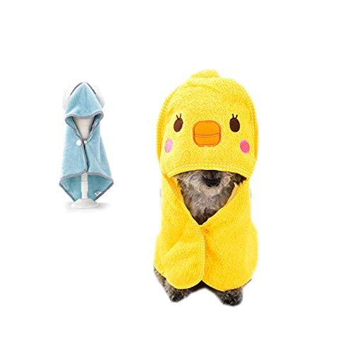 Hundebademantel mit ausgezeichneter Wasseraufnahme, Dryup Cape Hundbademantel mit Umhang Design, hundebademantel zum Trocknen von Hundehaaren nach dem Baden oder Schwimmen, Warm dryup hundebademantel