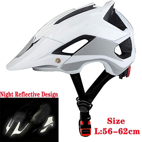 WJCLS BATFOX Bike Helmet Overall Molded Mountain Road Helmet Ultralight Bicycle Cycling Helmet BAT Fox DH AM Casco Ciclismo Bicicleta Color : Red and White