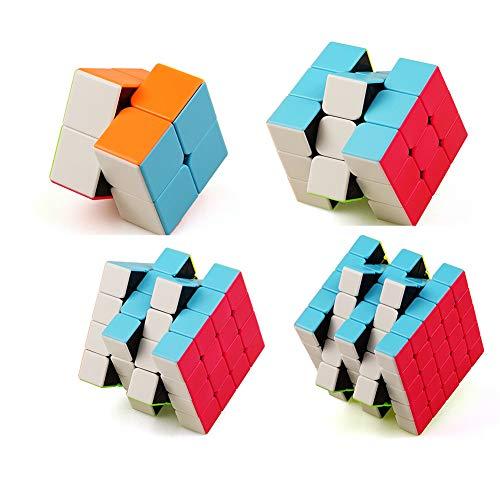 YunNasi Speed Cube Puzzles Quatre Pièces Casse-têtes Jouet Enfant Jeu Action Réflexe (Set de 4)