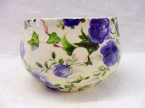 Heron Cross Pottery Bleu Ivy Rose Ouvert Sucrier