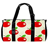 Seesack für Damen und Herren, Obst, Rot, Süßes Äpfel-Muster, Sport, Fitnessstudio, Tragetasche, Wochenende, Übernachtung, Reisetasche, Outdoor-Gepäck, Handtasche