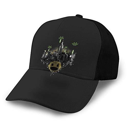 Pixel Invasion Gorra ajustable de béisbol, color negro
