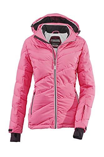 Killtec Damen Ocisa Skijacke In Daunenoptik Mit Abzippbarer Kapuze Und Schneefang, 10.000 Mm Wassersäule, Fuchsia, 46