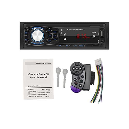 bysonice Reproductor Multimedia para Coche, Radio para Coche, Bluetooth, Manos Libres, Receptor Multimedia para Coche, Receptor de Radio para Coche Auxiliar FM con Control Remoto, 428 12v