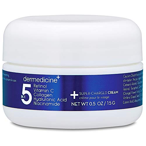 5 in 1 Retinol, Vitamin C, Collagen, Hyaluronic Acid, Niacinamide | Potent Face Cream which May Help Improve Appearance Fine Lines and Wrinkles and Reduce Appearance of Dark Spots | Trial .5oz