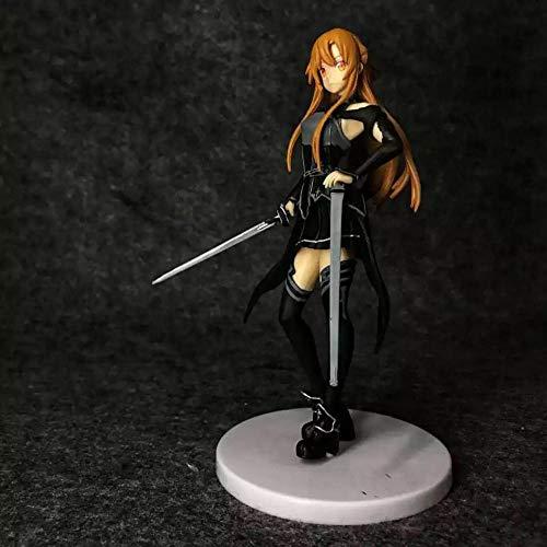 Figuras de accion Decoraciones Anime Asuna Yuki Asuna Figura en caja 17Cm-Negro Figura de anime Personaje Pvc Vinilo Decoracion Estatuilla Juguetes de rol Estatua hecha a mano Regalo de cumpleanos p