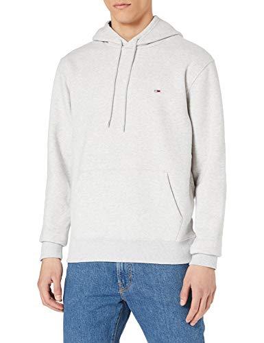 Tommy Jeans TJM Essential Script Hoodie Chaqueta con capucha de skateboarding, Gris plateado, L para Hombre