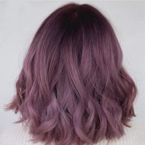 MQSS Corto Onda Azul Púrpura Gris Naranja Pelo Peluca