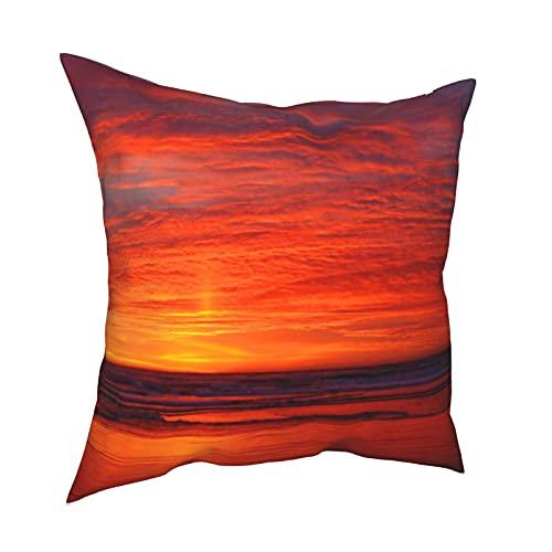 Fundas de almohada decorativas para crear tu propia hermosa puesta de sol, funda de cojín cuadrada para habitación, sofá, silla, coche, 50,8 x 50,8 cm