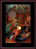 ポスター ジャスティン ブア Jazz Quintet 額装品 ウッドベーシックフレーム(ブラウン)