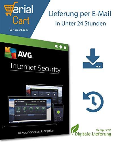 AVG Internet Security 2020 | 1 Geräte - 1 Jahr | von SerialCart [Aktivierungscode per Post/Download]
