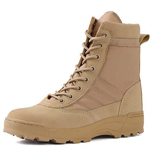JOMSK Botas de caña Alta Plus Fleece Tactics Warbot Top Top Trekking Shoes Magnum Winter Boots Hombres Senderismo (Color : Gray, Size : 43)
