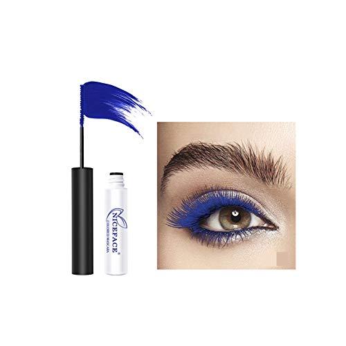 Farbiges Mascara Eyes Makeup, 6 Farben Charming Longlasting Mascara Wasserdichte und wischfeste Mascara Blau, Lila, Grün Maritown