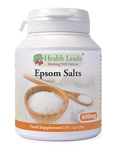 Epsom Salts (Magnesium Sulphate) 600mg x 80 Capsules (100% Additive Free Supplements)