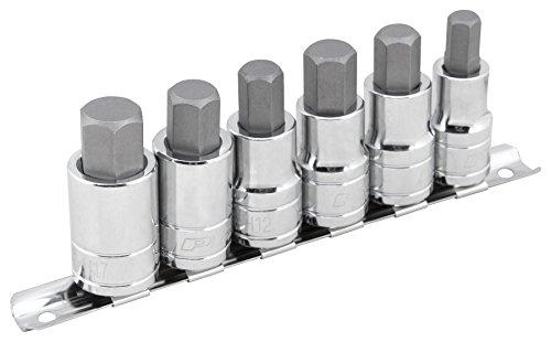 Performance Tool W38886 6 Piece 1/2 Drive Large Hex Bit Socket Set 3/8