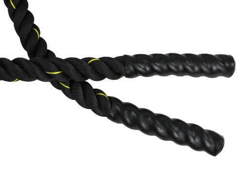 SUPER DEAL Black Poly Dacron Battle Rope