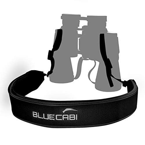 BlueCabi Adjustable Neoprene Neck Shoulder Strap for Cameras and Binoculars - Comfortable Fit with Anti Slip Rubber Material - Perfect Design for Binocular Telescopes, Rangefinders and DSLR Cameras