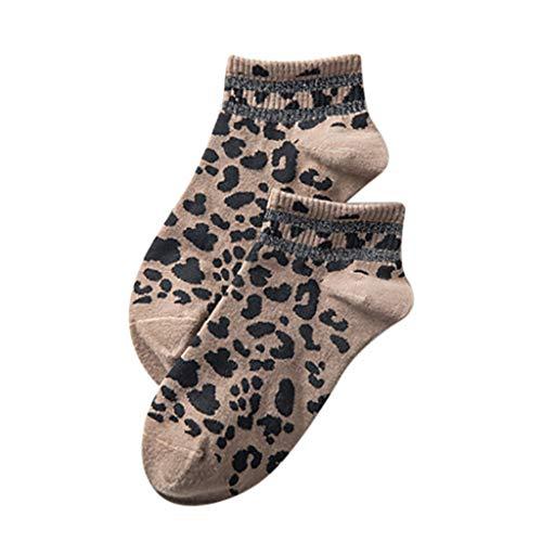 Newest Somerl kuschelsocken strümpfe Mode Barren Leopardenmuster Baumwolle Socke Flache Strümpfe Niedrige Socken Socken(Gray,Free)