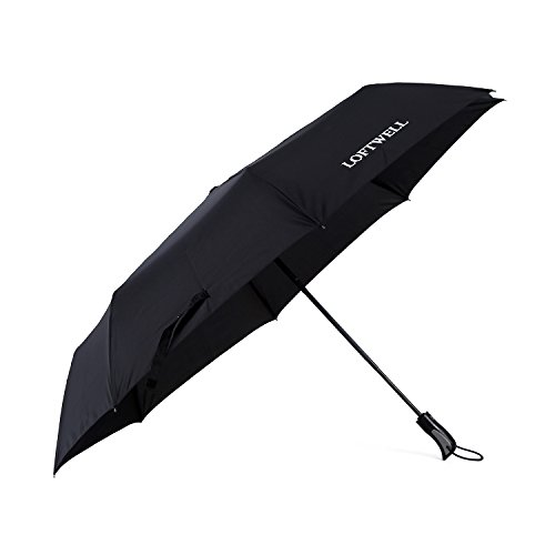 Cheap LOFTWELL Umbrella, Auto Open Close Anti-UV Protection Folding Windproof Umbrellas(Black)