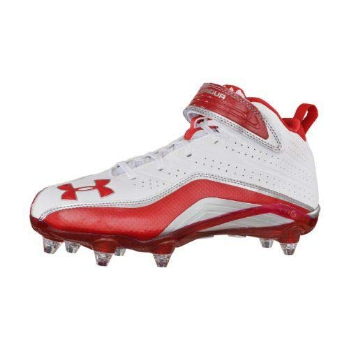 Under Armour Fierce Havoc Mid D - Mens - White/Red