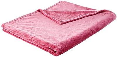 Elegant Comfort Micro Fleece Ultra Plush Luxury Solid Blanket Full Queen Pink