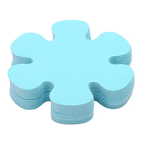 iixpin 20 Stück Anti-Rutsch Sticker für Badewanne, Dusche und Bad, Blumen Form und selbstklebend, Antirutsch Aufkleber Antirutschmatte Blau One Size