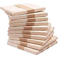 Zollner24 500 palos de madera para manualidades y helados, madera, 11,4x1 cm