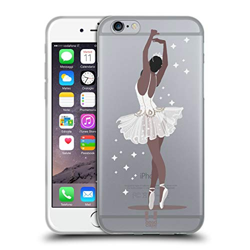 Head Case Designs Ballerino Ballet Nero Ballerine Cover in Morbido Gel Compatibile con Apple iPhone 6 / iPhone 6s