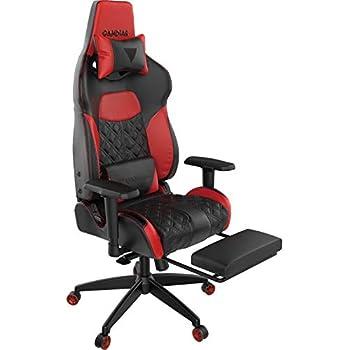GAMDIAS Sedia Gaming Achilles P1-L RGB Personalizzabile /& Braccioli Poggiapiedi e Schienale Regolabili Black /& Red