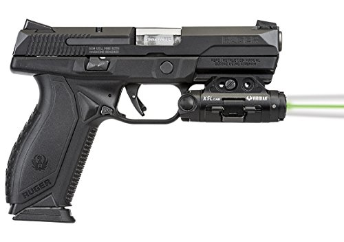 VIRIDIAN WEAPON TECHNOLOGIES, X5L Gen 3 Universal Green Laser, 500 Lumens Tactical Light and HD Camera, Black, Fits: Most railed pistols