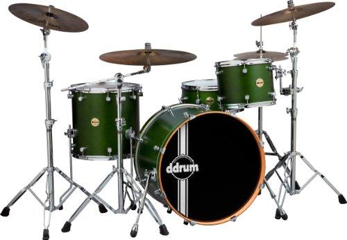 ddrum PMR 424 ZG Paladin Maple Rock Drum Kit, Zombie Green Satin (Refurbished)