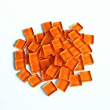 BestTeam Craft Material Mosaic Tile, Micro Glass Tiny Mini Mosaic Tile DIY Hobbies Children Handmade Crystal Free Stone Craft Material Creativity 300g (Orange)