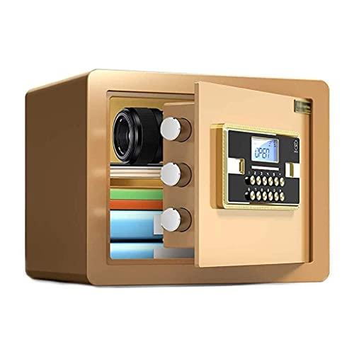 Cajas fuertes, hogar, contraseña pequeña y llave, caja fuerte invisible, fijada en la pared, caja fuerte en miniatura integrada, mini hucha familiar, 30 cm en el armario, caja fuerte para llaves de o