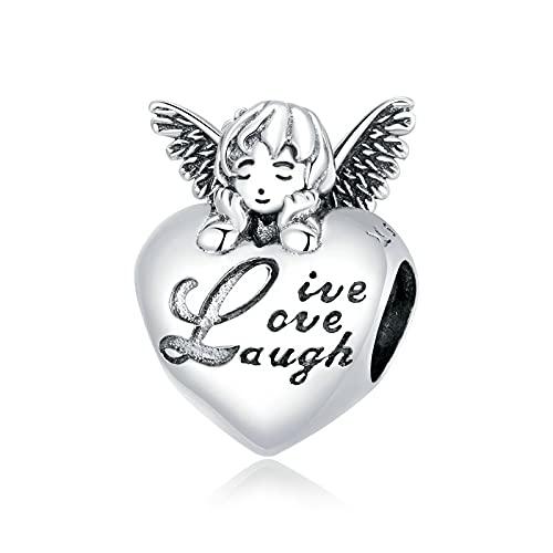 LISHOU DIY Familia De Acción De Gracias 925 Plata De Ley Infinito Corazón Colgante De Cuentas Ajuste Original Pulsera Collar DIY Joyería De Las Mujeres Regalo D2