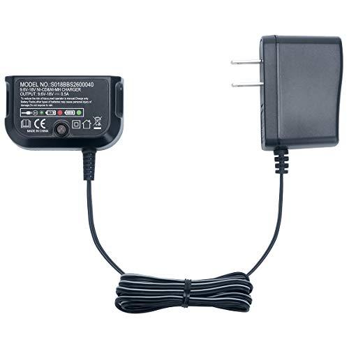 Elefly 9.6V-18V Replacement for Black & Decker Battery Charger 90556254-01, Compatible with Black and Decker 18V 14.4V 12V 9.6V NiCad & NiMh Battery HPB18 HPB18-OPE HPB14 HPB12 HPB96