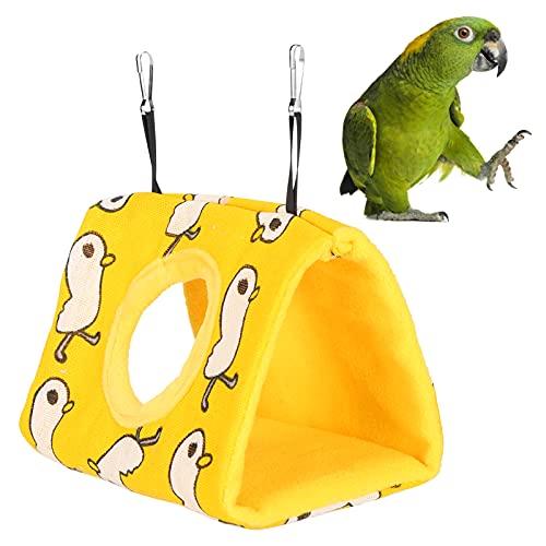 jadenzhou Hamaca de Loros, cómoda Cama Colgante para pájaros para pequeñas Mascotas para pájaros(L, Duck+Yellow Bottom)