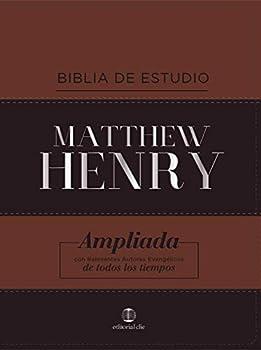 RVR Biblia de Estudio Matthew Henry Leathersoft Clásica  Spanish Edition