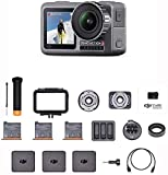 """DJI Osmo Action Prime Combo - Digital Camera with Accessory Kit and DJI Care Refresh, 12MP 1/2.3"""" CMOS, Dual Screens, Waterproof up to 11m, Integrated Stabilization, Photo and Video in 4K HDR – Black"""