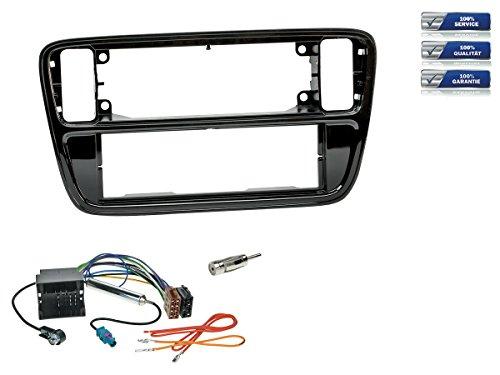 NIQ 1-DIN Autoradio Einbauset für VW Up Bj. 2012-2014 Klavierlack-Schwarz