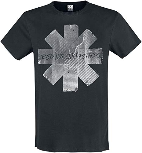 Amplified Shirt Red Hot Chili Peppers Duct Tape Black, L, Schwarz
