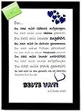 PRIXUS Media Declaración de amor «Bester Vati»: bonita declaración de amor con marco como idea de regalo para Navidad, cumpleaños, aniversario, día del padre
